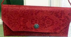 placemat purse | Handmade Red Placemat Clutch Purse