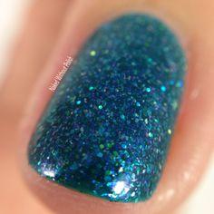 Macro of Frenzy Polish You Look So Good in Blue @frenzypolish