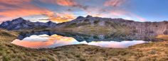 Lake Angelos by Itay Gal on Lakes, Sunsets, New Zealand, Mount Everest, Mountains, Artwork, Nature, Travel, Work Of Art