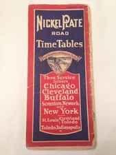 Vintage Ephemera: Train Time Table 1910's Nickle Plate Road Railroad Buffalo NY