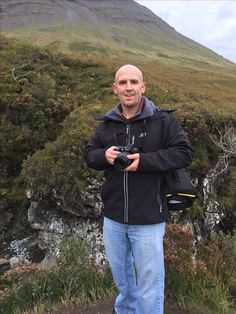 Tim at the Fairy Pools