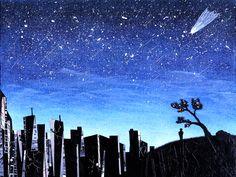 감성, 몽환적인, 밤하늘 일러스트- 변화