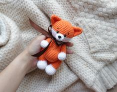 Crochet pattern bundle - Crochet fox teether and toy - amigurumi fox pattern, crochet pattern rattle, teetheng ring fox Amigurumi Fox, Crochet Amigurumi, Crochet Bear, Cute Crochet, Crochet Animals, Baby Rattle, Crochet Patterns Amigurumi, Crochet Fox Pattern Free, Free Pattern
