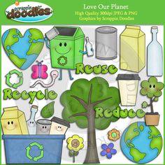 Love Our Planet Clip Art $