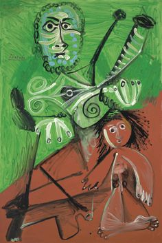 Pablo Picasso - Man and Child, 1969