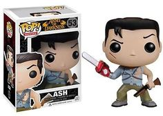Bruce Campbell's Ash has been given the Pop! Vinyl treatment with this Army of Darkness Ash Pop! Vinyl Figure! Ash looks true to form with his chainsaw arm and shotgun. When you see just how cool the 3 3/4-inch tall Army of Darkness Ash Pop! Vinyl Figure looks you'll want to collect the rest in the Army of Darkness line from Funko!