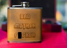 For the fans: Jules' Flask  By ThePersonalizedGift.etsy.com