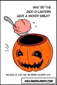 Jack-o-Lantern Cartoon Joke