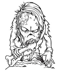 realistic halloween coloring pages | horror colouring pages - Google Search | Horror/spooky ...