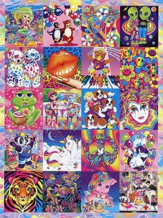 Lisa Frank - I seriously had every one of these folder at some point. I remember the animal ones used to have a little story about them on the inside pockets :P.