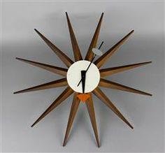 Mid century Nelson sunburst clock