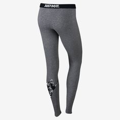 NIKE LEG-A-SEE CAMO PRINT TIGHTS IN CARBON HEATHER/BLACK COMBO