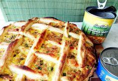 Tarta cu ton si porumb Apple Pie, Quiche, Mashed Potatoes, Waffles, French Toast, Cooking Recipes, Snacks, Olympus, Breakfast