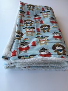 Blue Dog Blanket Pet Blanket Blue Baby Blanket by ComfyPetPads #cowboydogs #piratedogs #dogs