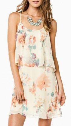 Hazy Garden Flowy Dress. great pattern