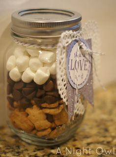 smore's in a jar. I LOVE SMORE'S!!!