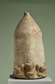 Colossal phallus with three minor phalloi.Etrusco-Italic, after 400 BC. Fired clay with traces of red colour. 32,2 cm.