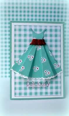 Dress card + template saved pattern on lap top Scrapbook Cards, Scrapbooking, Dress Card, Card Tutorials, Card Tags, Kids Cards, Folded Cards, Cute Cards, Creative Cards
