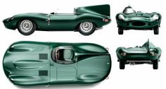Jaguar Type D long nez de 1955
