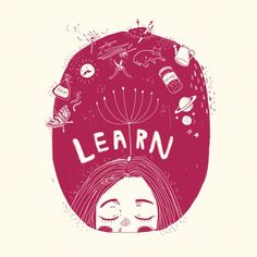 (3/3) Learn | Art by Kathrin Honesta (@kathrinhonestaa)