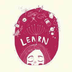 (3/3) Learn   Art by Kathrin Honesta (@kathrinhonestaa)