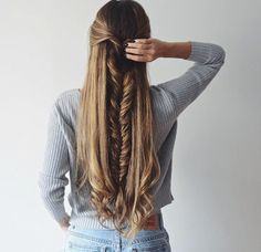 Searching hairstyles for long thick hair? Here is our pick of 8 easy hairstyles for long thick hair. Check them out. Pretty Hairstyles, Braided Hairstyles, Unique Hairstyles, Hairstyle Ideas, Heatless Hairstyles, French Hairstyles, Medium Hairstyles, Braided Updo, Hairdos