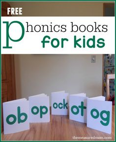 Free phonics books for kids - these bright, fun books are perfect for learning to read short o words.