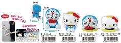 Doraemon × Hello Kitty hand glue mascot various