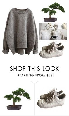 """Uh oh"" by rileyschae ❤ liked on Polyvore featuring Nearly Natural and NIKE"