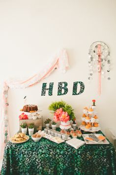 Love the neon and silver with the blue/green batik! Ideas for decorating a bright adult birthday party.