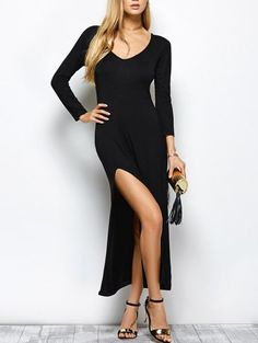 GET $50 NOW | Join Zaful: Get YOUR $50 NOW!http://m.zaful.com/plung-neck-slit-bodycon-maxi-dress-p_244195.html?seid=645238zf244195