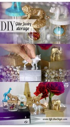 DIY How to Make Glitter Animal Jewelry Box  | www.annlestyle.com