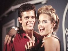 Young C. Thomas Howell and Kelly Preston on their 1985 American romantic comedy film 'Secret Admirer'.