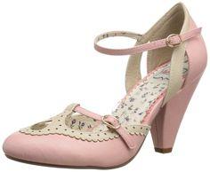 Bettie Page Women's BP403-Alicia Dress Pump, Pink, 6 M US