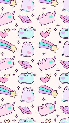 Ideas cats wallpaper pusheen for 2019 Wallpaper Gatos, Unicornios Wallpaper, Cute Pastel Wallpaper, Kawaii Wallpaper, Cute Wallpaper Backgrounds, Tumblr Wallpaper, Wallpaper Iphone Cute, Cartoon Wallpaper, Kawaii Drawings