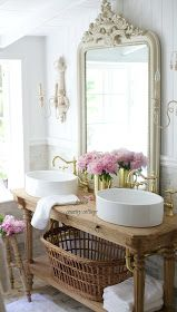 I'm a little weary of the trend in creative bathroom vanities and vessel sinks, but this one is absolutely lovely.