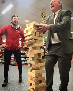 #MolloysSuperValuNewRoss has just witnessed an #Epic #Jenga Valle for the ages. Store Manager and #ManOfThePeople Tommy narrowly lost out to Adam of #AudiA1BeatFleet fame. #Jenga #Epic #NewRoss