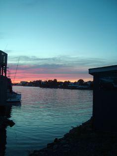 Halifax, Nova Scotia (Sunset on the harbor)
