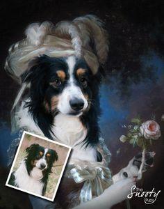 Marie Antoinette PET PORTRAIT - Custom Dog Portrait, Custom Cat Portrait by CustomPetPrints on Etsy