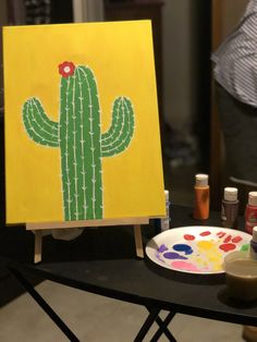 Easy to do painting Painting for beginners Easy to do painting Painting for beginners Easy Canvas Art, Simple Canvas Paintings, Easy Canvas Painting, Cute Paintings, Mini Canvas Art, Diy Painting, Easy Painting For Kids, Summer Painting, Beginner Painting