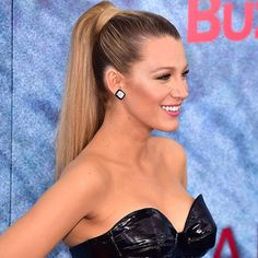 When you're @BlakeLively and you're wearing a black latex bustier, there's really no other hairstyle option beside the sky-high ponytail. Thickness is key, so add extensions, cut the ends blunt and wrap a rope of hair around the elastic. Then soften the dominatrix factor just a little bit with sweet pink lipstick. #TodaysBeautySecret