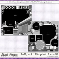 Cindy's Layered Templates - Half Pack Photo Focus 59 by Cindy Schneider