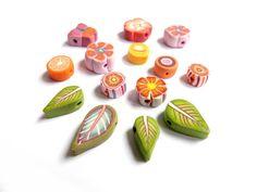 Butterfly Flower Leaf Orange slice handmade by CreArtistElements, €12.00