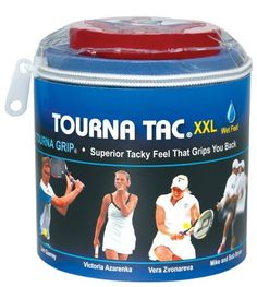 """Unique XX-Large Sports Tourna Tac Grip (Pack of 30) by Unique. $39.99. """"Add weight to your racket for more power and better arm, shoulder and wrist safety. Just cut and press on racquet frame. Comes in strips of 1/4"""" x 72"""""""""""