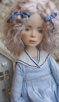 """Купить Коллекционная кукла """"Мишель"""". - кукла ручной работы, единственный экземпляр, кукла интерьерная"""