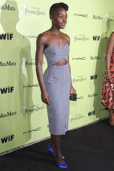 Lupita Nyong'o in Michael Kors. [Photo by Amy Graves]