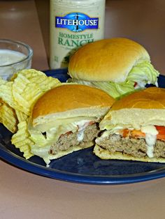 Homestyle Ranch Burgers. Never have a dry burger again