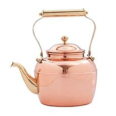 image of Old Dutch International 2.5 qt. Tea Kettle with Brass Spout/Handle