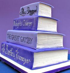 Purple Literary Birthday Cakes