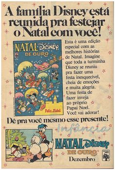 Revista em Quadrinhos Natal de Ouro Disney #nostalgia